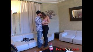Hot young arab girl creampie! French amateur