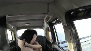 FakeTaxi Sassy Romanian with perfect tits gets taxi facial